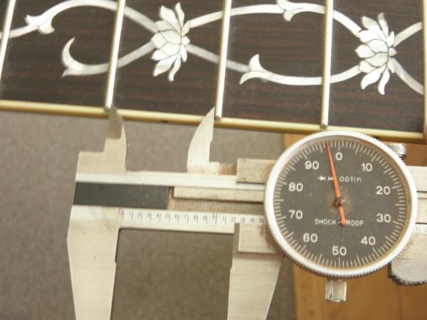 Figure 3: Measuring 3rd fret interval