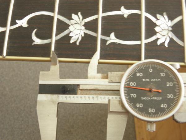 Figure 2: Measuring fret interval